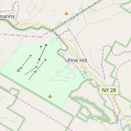 Map of Belleayre Mountain