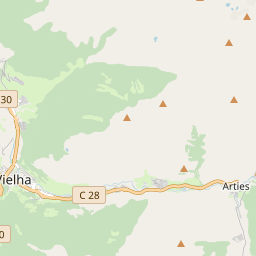 Map of Baqueira-Beret