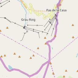 Map of Pas de la Casa / Grau Roig
