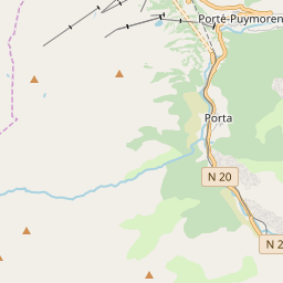 Map of Porté Puymorens