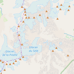 Map of Pelvoux - La Vallouise