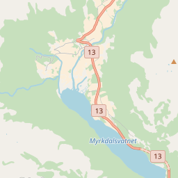 Map of Myrkdalen