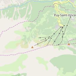 Map of Puy Saint Vincent