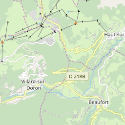 Map of Les Saisies