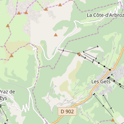 Map of Les Gets