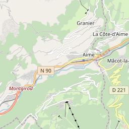 Map of La Plagne