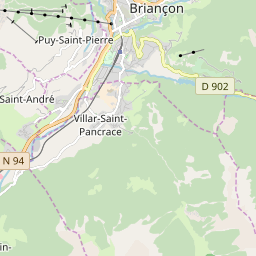 Map of Briançon