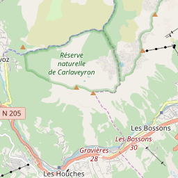 Map of Les Houches