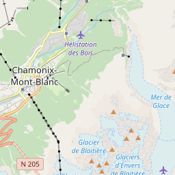 Map of Chamonix