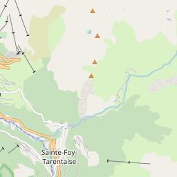 Map of Sainte-Foy Tarentaise