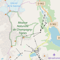 Map of Tignes
