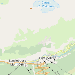 Map of Val Cenis