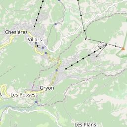 Map of Villars - Gryon