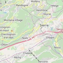 Map of Crans-Montana