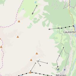 Map of Lauterbrunnen