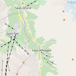 Map of Saas-Fee