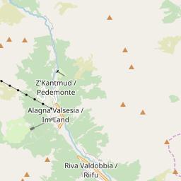Map of Alagna Valsesia