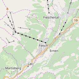 Map of Bellwald
