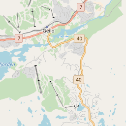 Map of Geilo