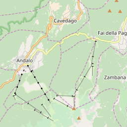 Map of Andalo