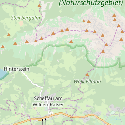 Map of Scheffau am Wilden Kaiser