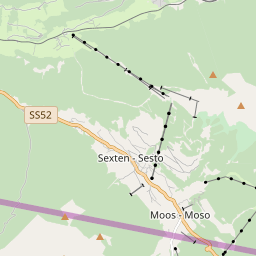 Map of Sexten / Sesto