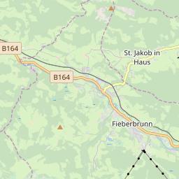 Map of Fieberbrunn