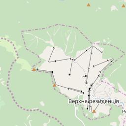 Map of Bukovel