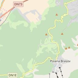 Map of Poiana Brasov