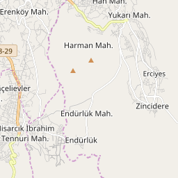 Map of Erciyes