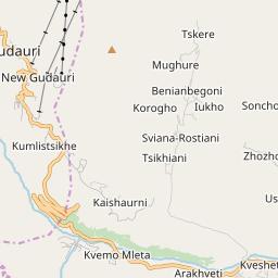 Map of Gudauri
