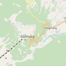 Map of Gulmarg