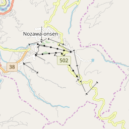 Map of Nozawa Onsen