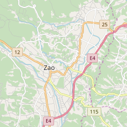 Map of Zao