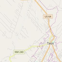 Map of Taos