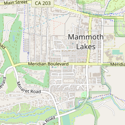 Mammoth Mountain California Map.Mammoth Mountain Resort And Accommodation Location Map J2ski